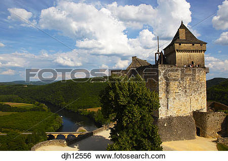 Stock Images of France, Dordogne, Aquitaine, Périgord, Castelnaud.