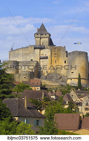 "Stock Image of ""Castelnaud Castle, Chateau de Castelnaud."