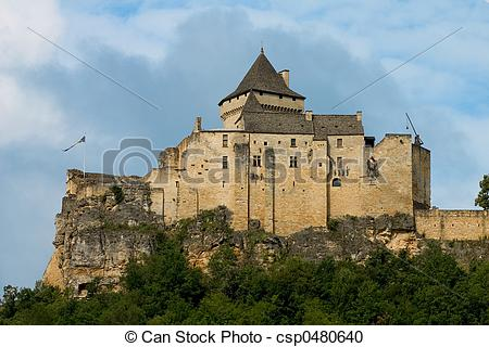 Stock Photography of Castle of Castelnaud, France.