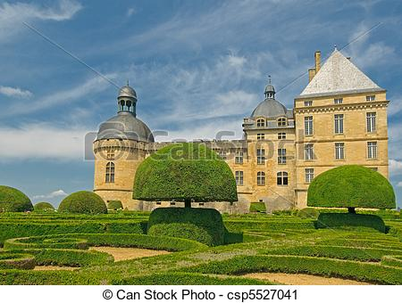 Stock Photography of Chateau Hautefort, Dordogne, France.