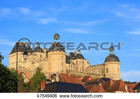 Stock Images of Chateau de Hautefort (Dordogne, France) k7549406.