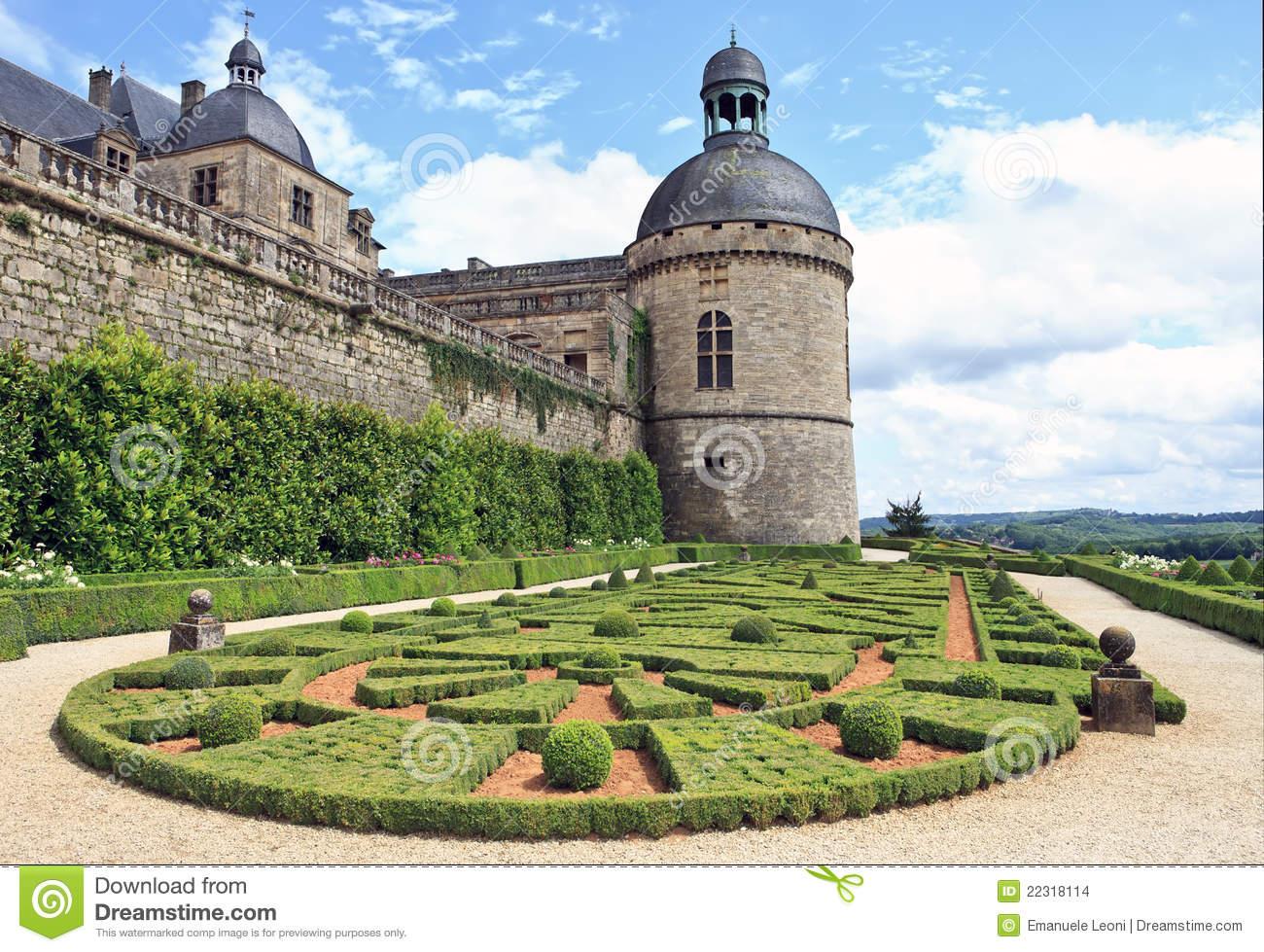 Chateau De Hautefort, Perigord ( France ) Stock Image.