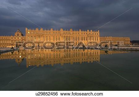 Stock Images of Chateau de Versailles Reflection u29852456.