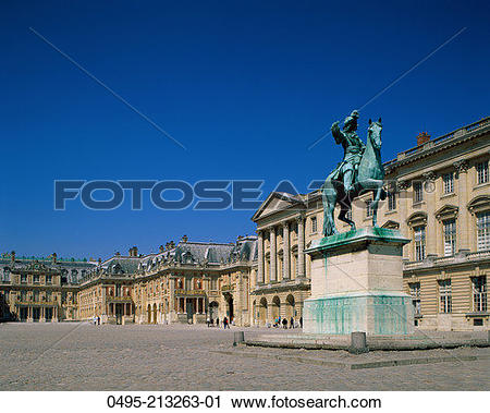 Stock Photography of France, Palace of Versailles (Chateau de.