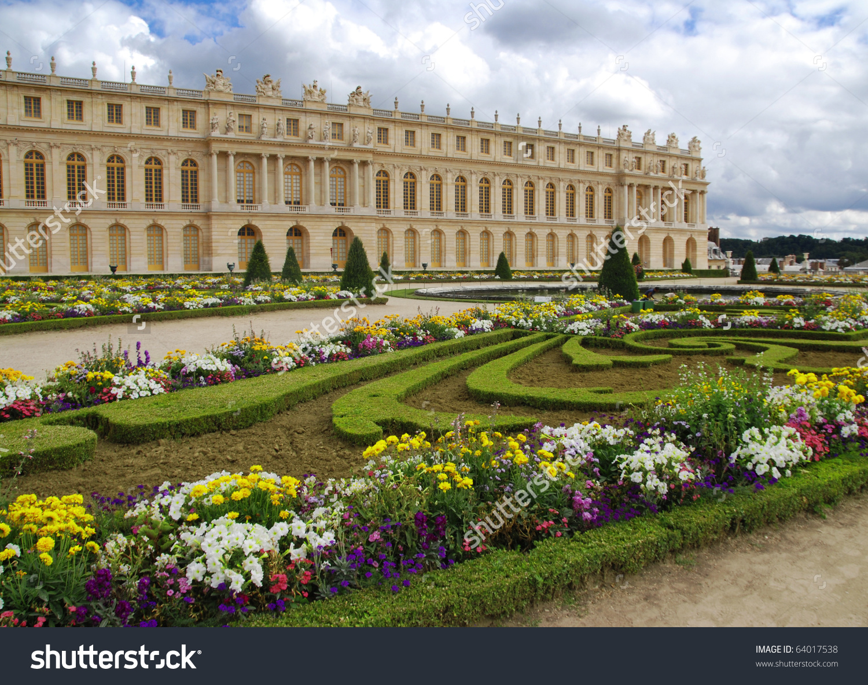 Palace of Versailles Gardens Clip Art.