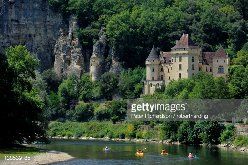 Chateau De La Malartrie On The River Dordogne La Roquegageac.