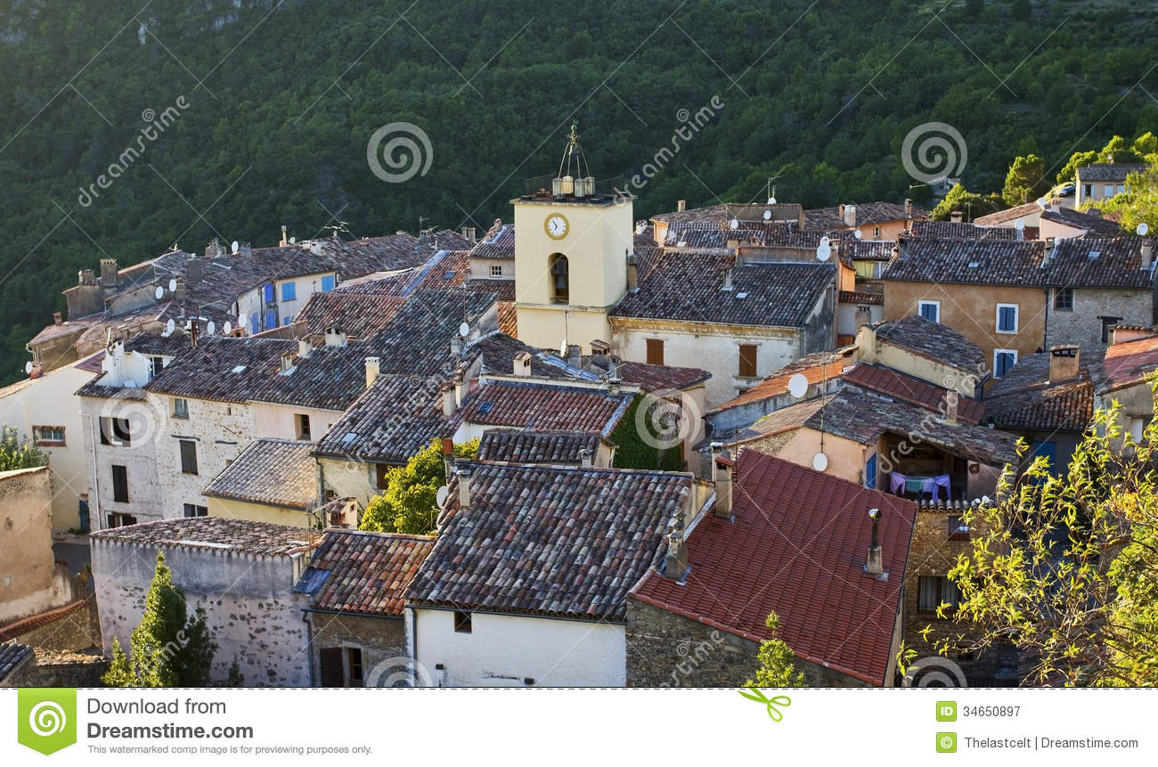 Roof Top View, French Mountain Village, Chateaudouble, The Var.