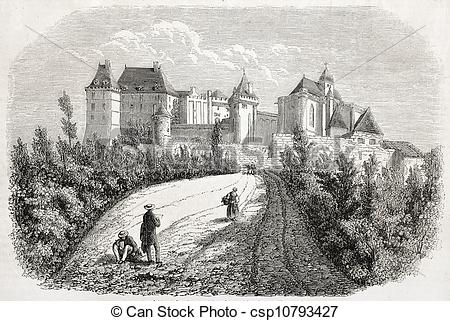 Clip Art of Chateau de Biron.