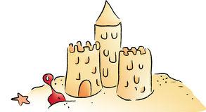 Clipart chateau de sable.
