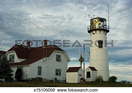 Stock Photograph of Chatham Lighthouse, Chatham, Cape Cod.