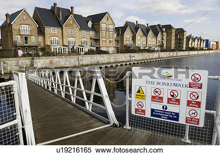Stock Image of England, Kent, Chatham, Warning sign on entering.