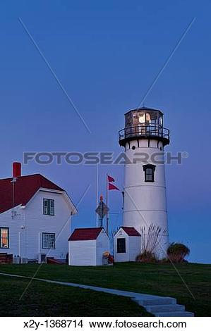 Stock Photo of Chatham Light and Coast Guard station, Chatham.