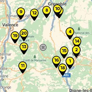 Déchetterie à Châtillon en Diois.