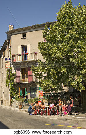 Stock Images of France. Drome. Diois. Hotel du Dauphine, with.