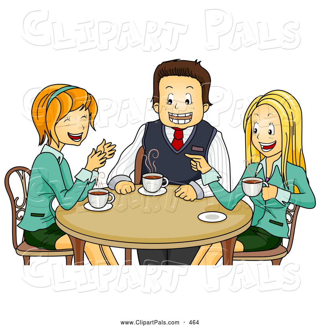 Coffee Chat Clipart.
