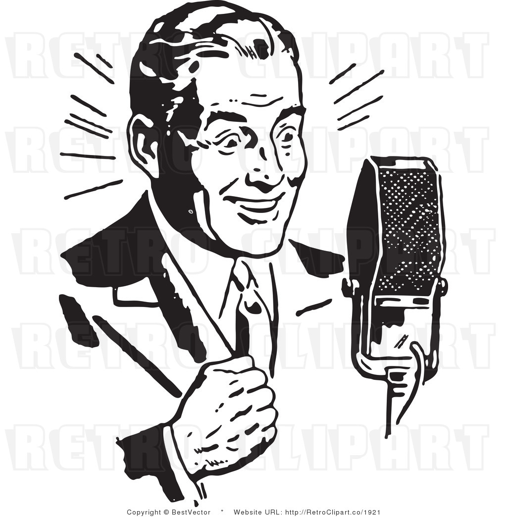 Radio Talk Show Clip Art.