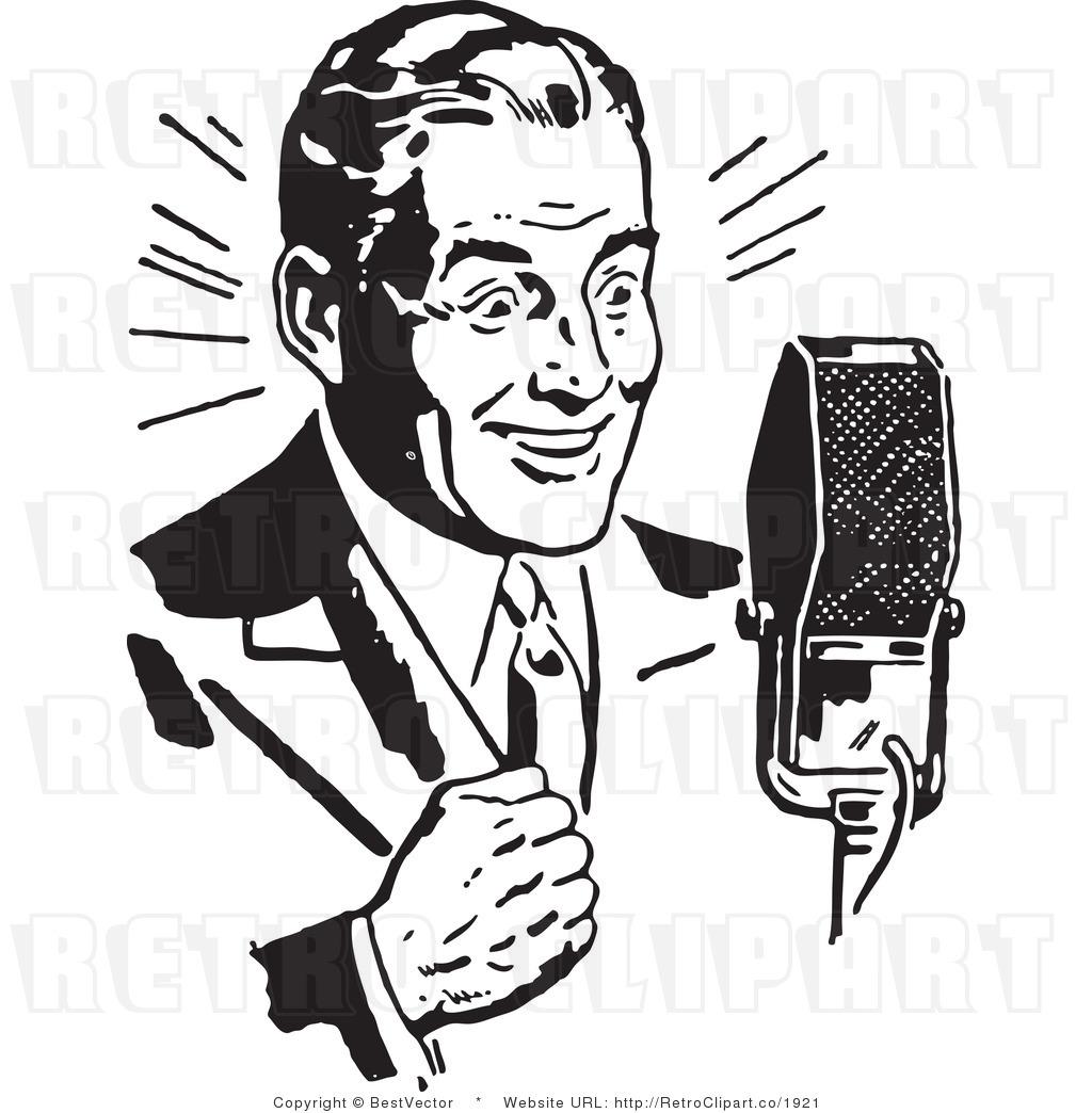 Radio Talk Show Clip Art.