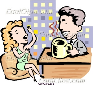 Chat-show host clipart #19