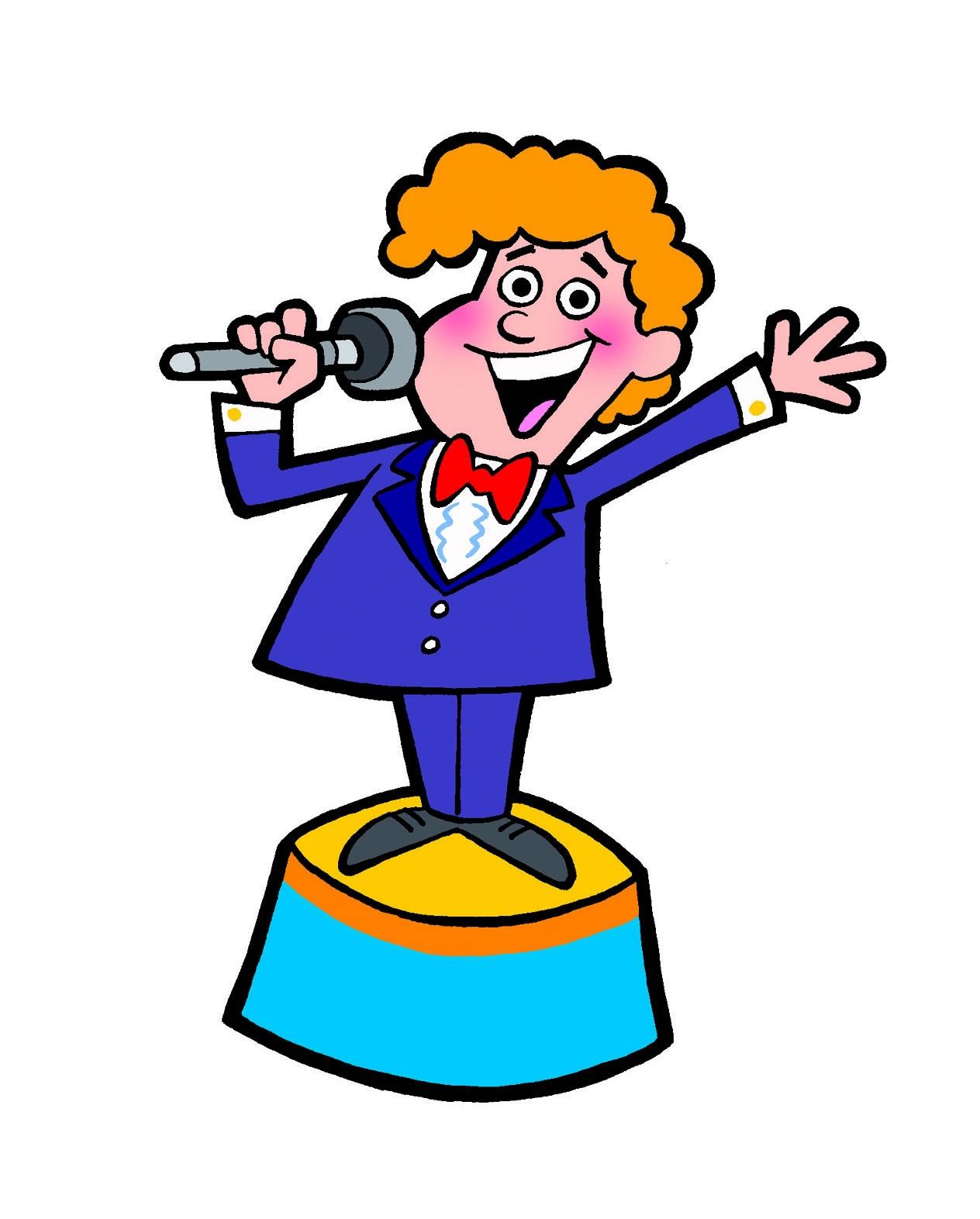 Talk show host clipart.
