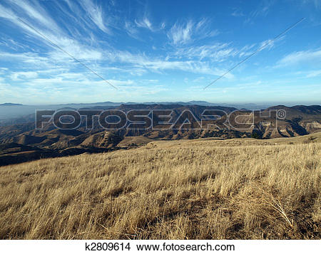 Stock Photo of Oat Mountain View, Chatsworth California. k2809614.