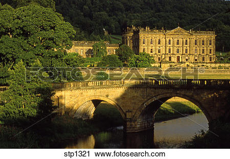 Stock Photography of England. Chatsworth House Stately Home.