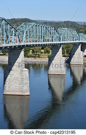 Stock Photographs of Walnut Street Bridge in Chattanooga.