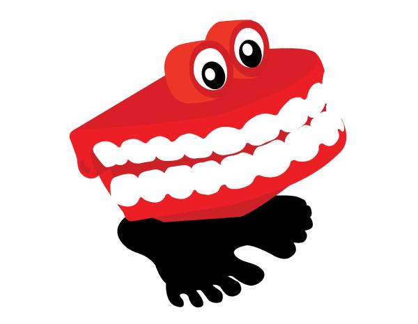 Chattering Teeth Vector.