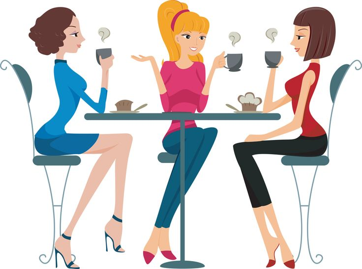 Ladies chatting clipart.