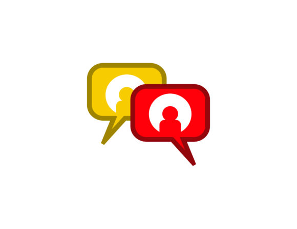 People chatting logo.