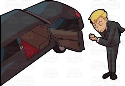 chauffeur Cartoon Clipart.