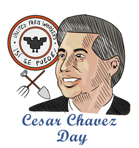 Cesar Chavez Day Clipart.
