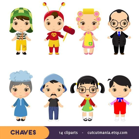 Chaves clipart, vila do Chaves clip art, Chavo, partido del.