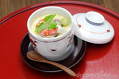 Chawanmushi, Japanese Egg Custard Royalty Free Stock Image.