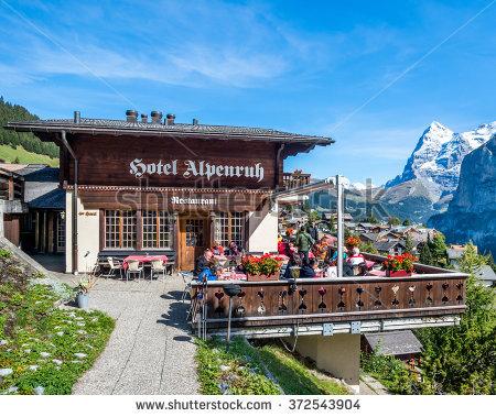Murren Switzerland September 26 2015 Scenery Stock Photo 324493532.