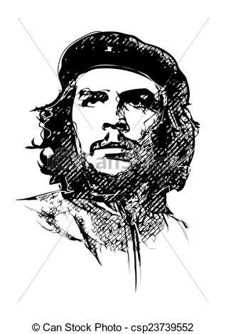 Clipart Vector of Che Guevara vector illustration csp23739552.
