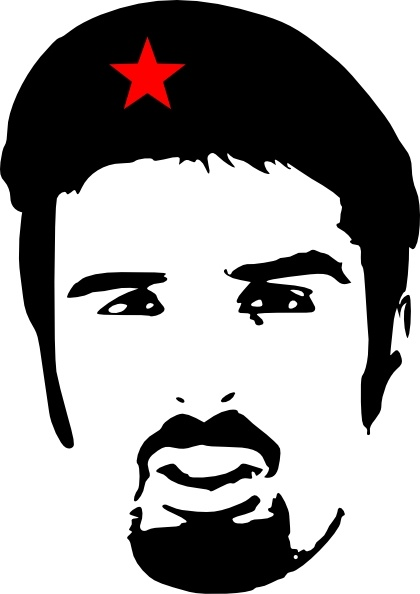 Ali Esbati As Che Guevara clip art Free vector in Open office.