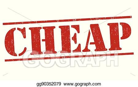 Vector Stock Cheap Stamp Or Sign Clipart Illustration Gg90352079.