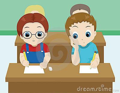 Cheating Test Stock Illustrations.