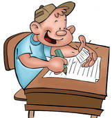 Stock Illustration of cheating on an exam rco0015.