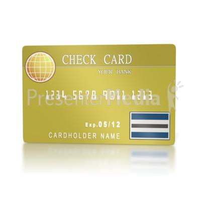 Bank Check Card.