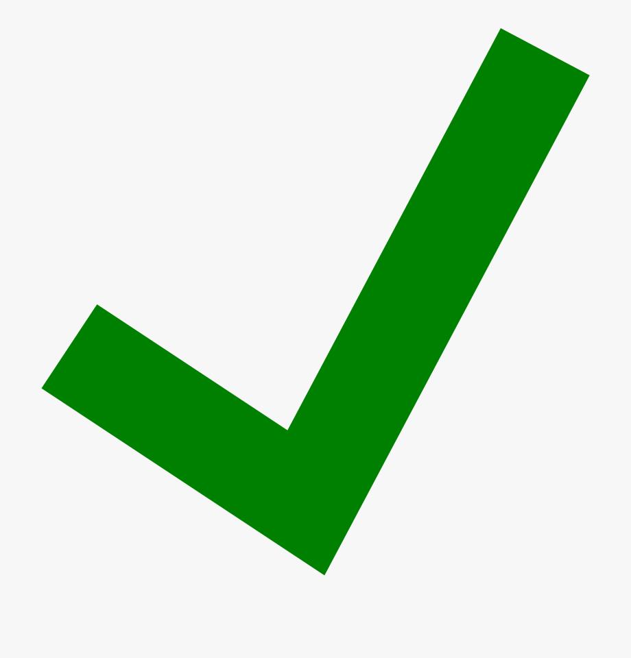 Green Check Clipart Transparent.