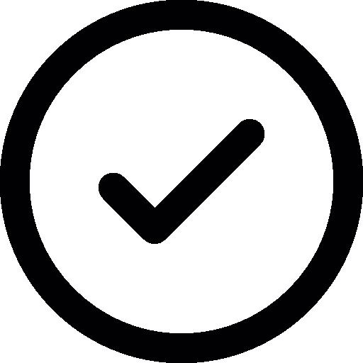 Check mark button Icons.