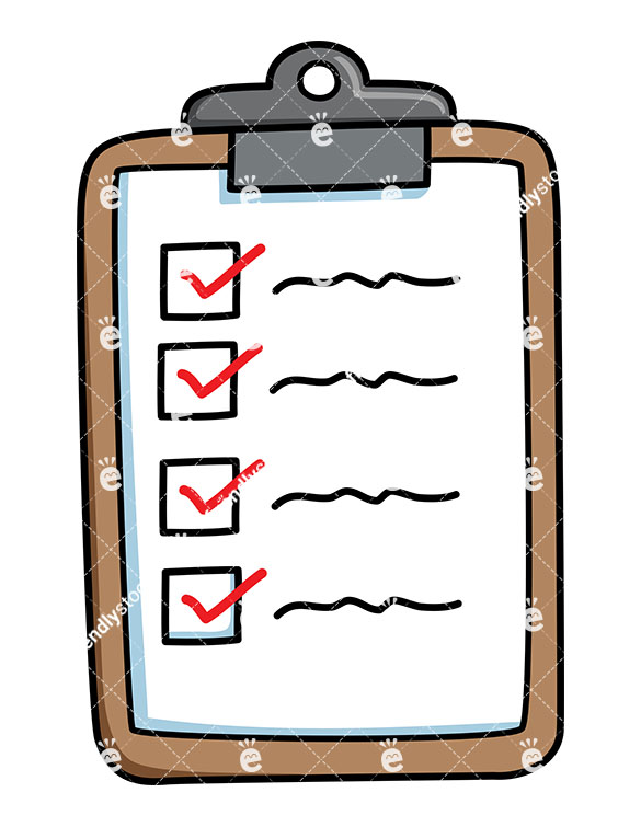 Checklist With Items Checked.