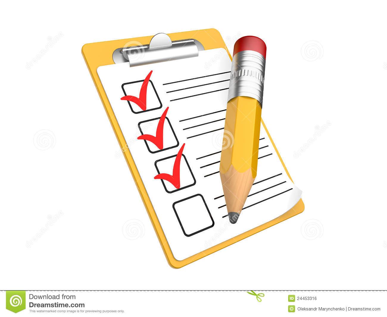 Checklist Clipart.