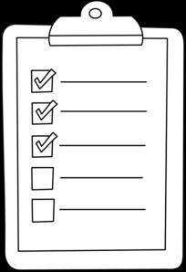 Check List Clipart.