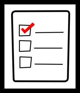 Checklist 20clipart.