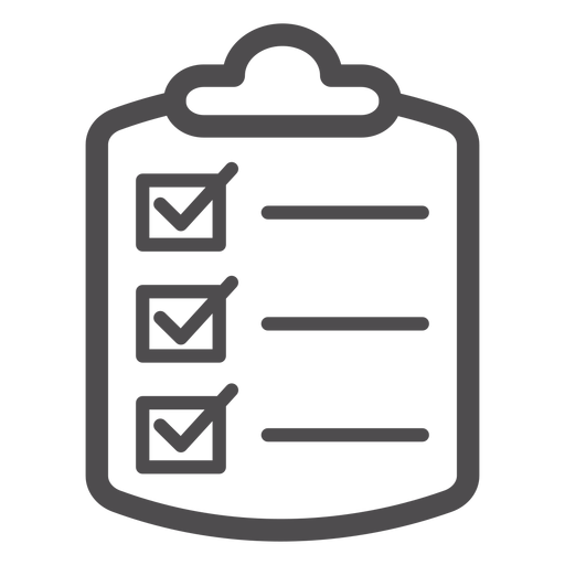 Medical checklist stroke icon.