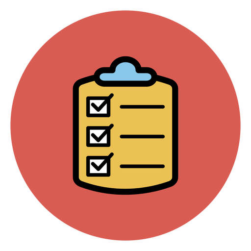 Medical checklist icon.