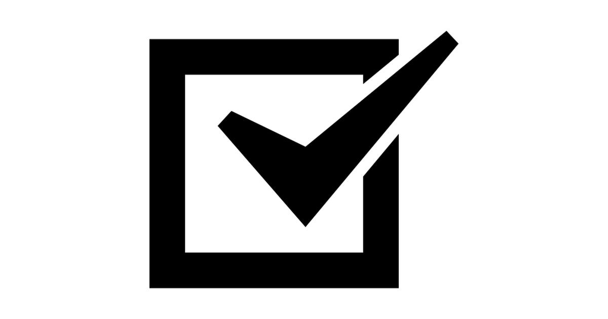 Checklist checked box.