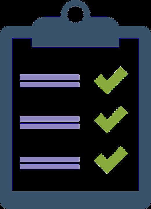 Clipboard Checklist Check List.